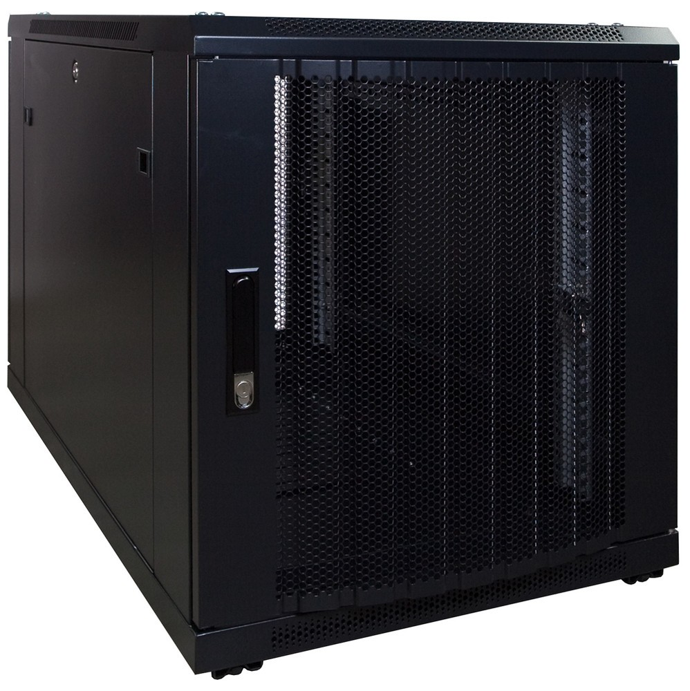 Afbeelding van 12U mini Patchkast met geperforeerde deur 600x1000x635mm (BxDxH)