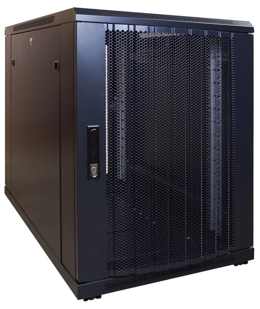 Afbeelding van 15U mini Patchkast met geperforeerde deur 600x1000x769mm (BxDxH)