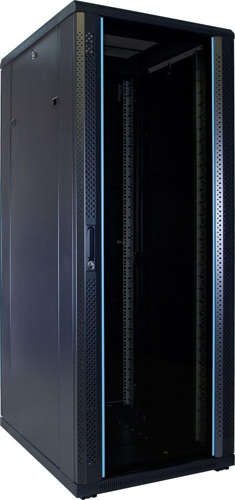 Afbeelding van 32U Patchkast ongemonteerd met glazen deur 600x800x1600mm (BxDxH)