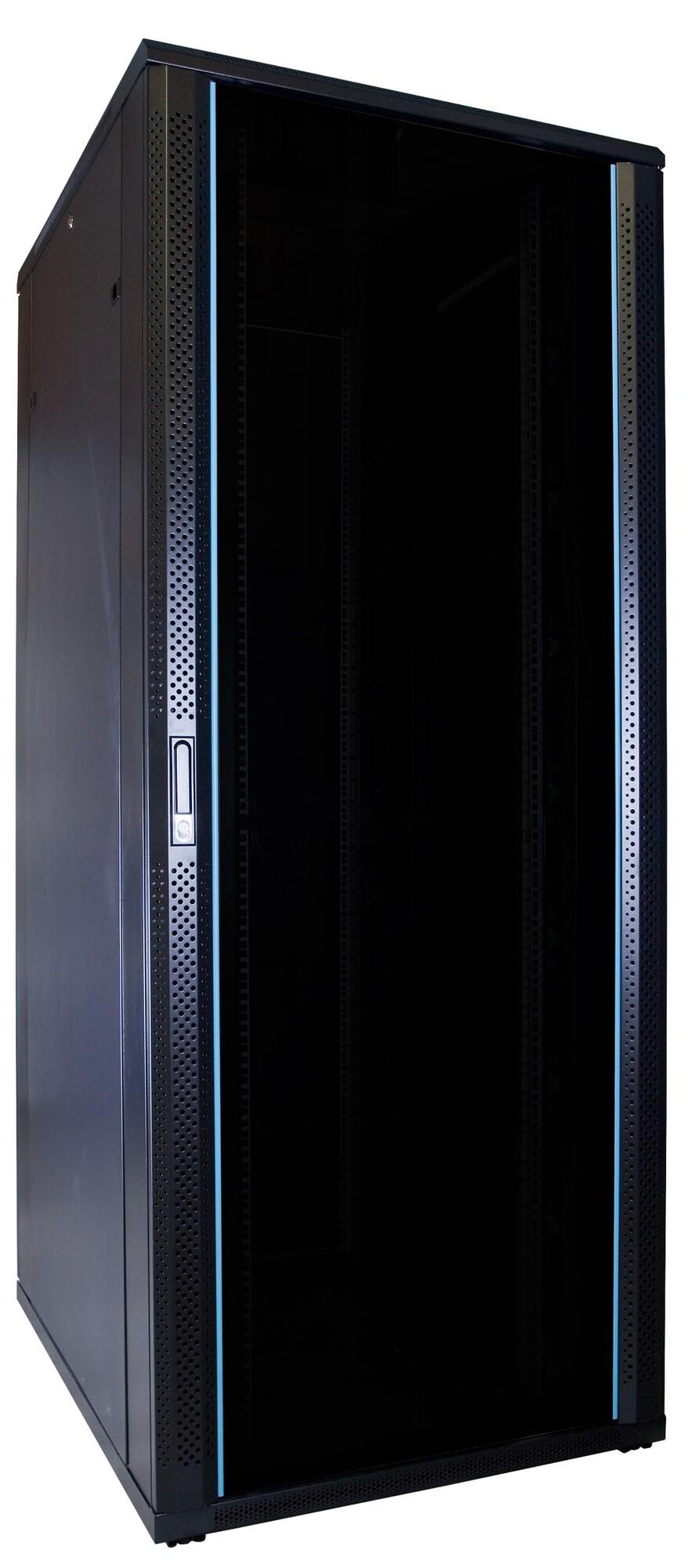 Afbeelding van 47U Patchkast met glazen deur 600x800x2200mm (BxDxH)