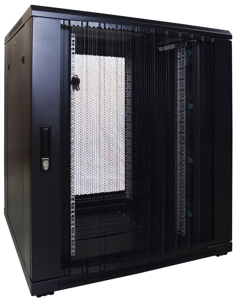 Afbeelding van 18U Patchkast met geperforeerde deur 800x800x1000mm (BxDxH)
