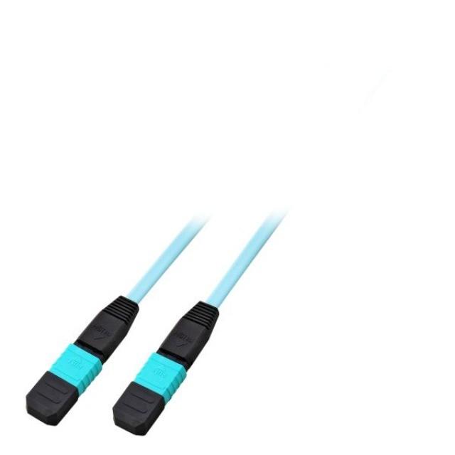 Afbeelding van OM4 glasvezel kabel F-F 12 vezels MTP/MPO Type A 150 meter