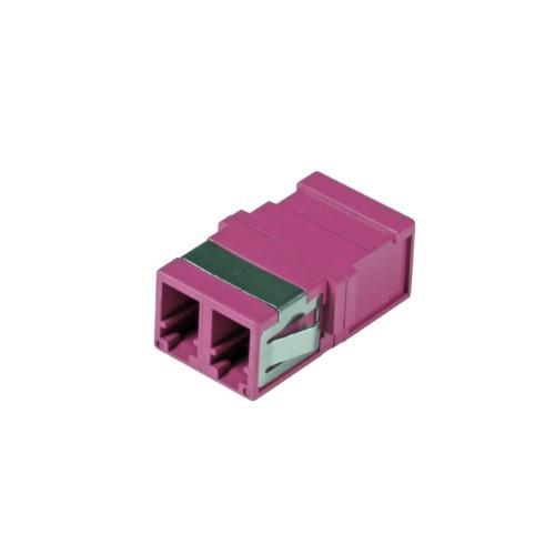 Afbeelding van Multimode keystone koppeling LC-LC duplex paars