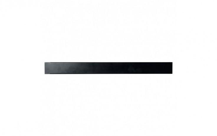 Afbeelding van 1 U 19 inch toolless plastic afdekpaneel in zwart voor patchkasten