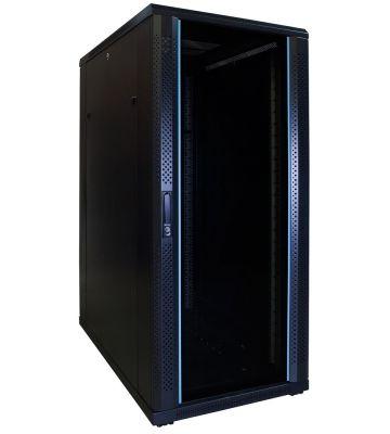 27U Patchkast met glazen deur 600x1000x1400mm (BxDxH)