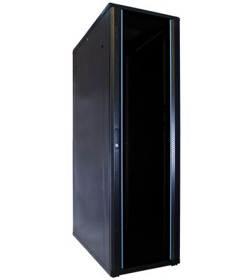 42U Patchkast met glazen deur 600x1200x2000mm (BxDxH)