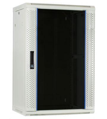 18U Witte Wandkast met glazen deur 600x450x900mm