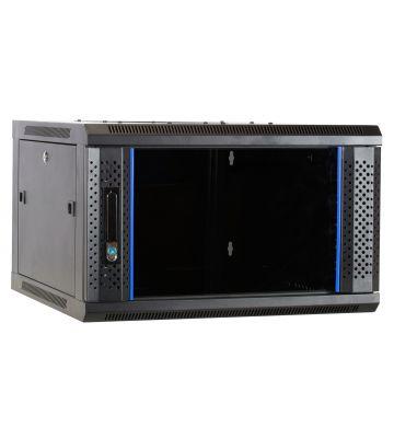 6U Wandkast ongemonteerd met glazen deur 600x600x368mm