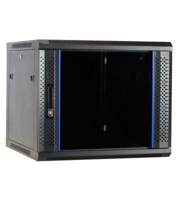 9U Wandkast ongemonteerd met glazen deur 600x600x500mm