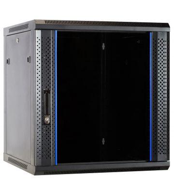 12U Wandkast met glazen deur 600x600x635mm