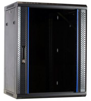 15U Wandkast ongemonteerd met glazen deur 600x600x770mm