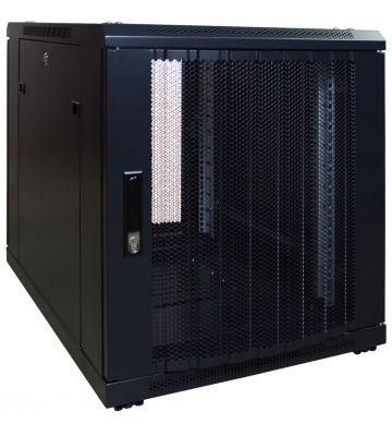12U mini Patchkast met geperforeerde deur 600x600x720mm (BxDxH)