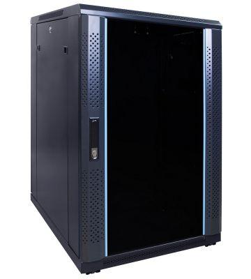 18U Patchkast ongemonteerd  met glazen deur 600x800x1000mm (BxDxH)