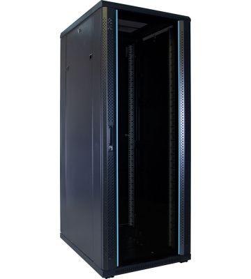 32U Patchkast ongemonteerd met glazen deur 600x800x1600mm (BxDxH)