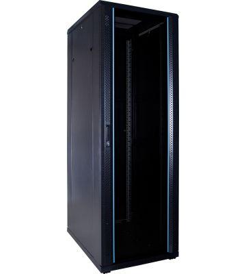 37U Patchkast ongemonteerd met glazen deur 600x800x1800mm (BxDxH)