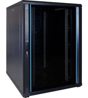 22U Patchkast met glazen deur 800x1000x1200mm (BxDxH)