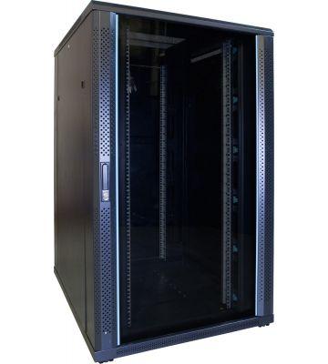 27U Patchkast met glazen deur 800x1000x1400mm (BxDxH)
