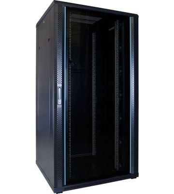 32U Patchkast met glazen deur 800x800x1600mm (BxDxH)