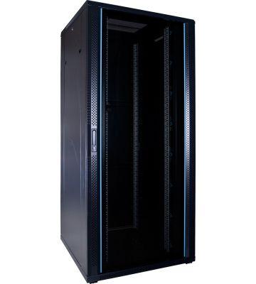 37U Patchkast met glazen deur 800x800x1800mm (BxDxH)