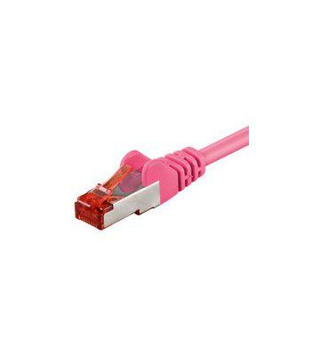 CAT6 SSTP/PIMF 0,50m roze