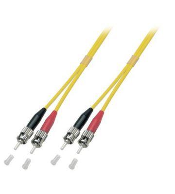 OS2 duplex glasvezel kabel ST-ST 1m
