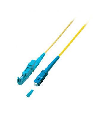 OS2 simplex glasvezel kabel E2000-SC 0,50m