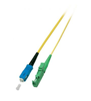 OS2 simplex glasvezel kabel E2000/APC-SC 0,50m