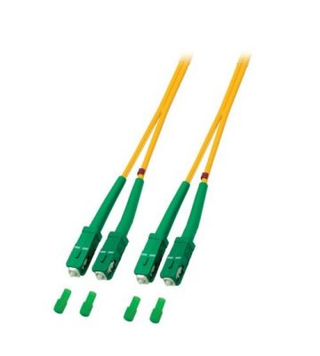 OS2 duplex glasvezel kabel SC/APC-SC/APC 1m