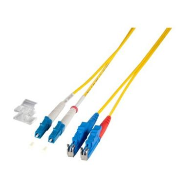 OS2 duplex glasvezel kabel E2000-LC 1m