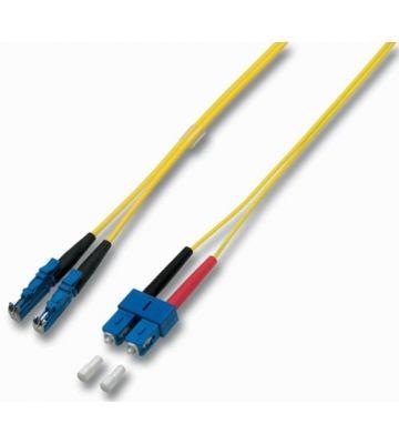 OS2 duplex glasvezel kabel E2000-SC 1m