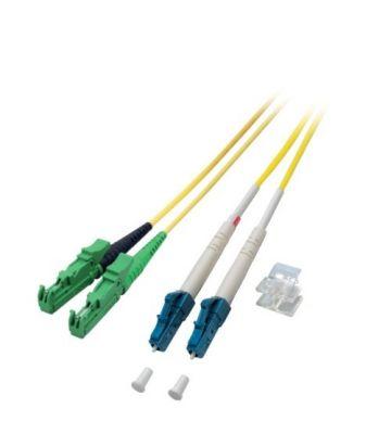 OS2 duplex glasvezel kabel E2000/APC-LC 1m