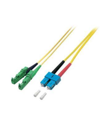 OS2 duplex glasvezel kabel E2000/APC-SC 0,50m