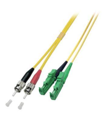 OS2 duplex glasvezel kabel E2000/APC-ST 1m