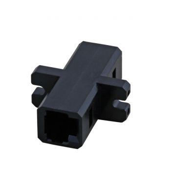 Single- multimode koppeling MTRJ-MTRJ simplex zwart