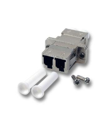 Singlemode APC koppeling LC-LC duplex met metalen behuizing