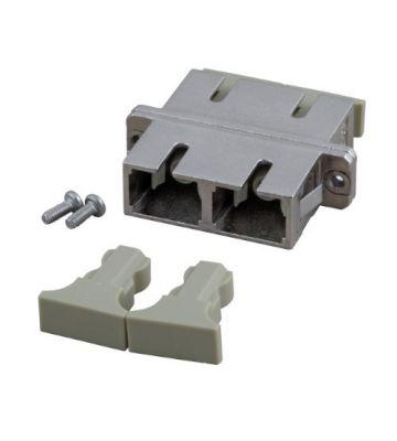 Singlemode APC koppeling SC-SC duplex met metalen behuizing