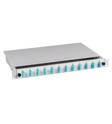 """OM3 19"""" patchpaneel SC duplex 12 poorts vast lichtgrijs"""