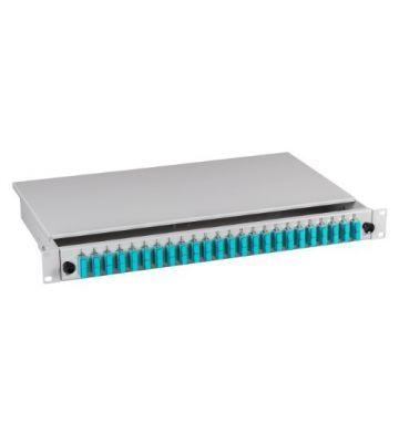"""OM3 19"""" patchpaneel SC duplex 24 poorts vast lichtgrijs"""