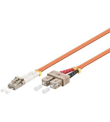Glasvezel kabel LC-SC OM2 (laser optimized) 0,5 m