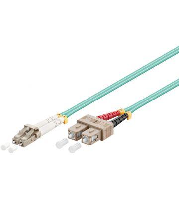 Glasvezel kabel LC-SC OM3 (laser optimized) 15 m