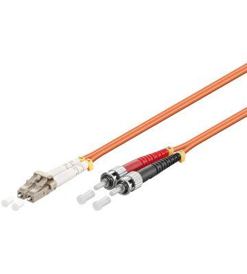 Glasvezel kabel LC-ST OM2 (laser optimized) 1 m