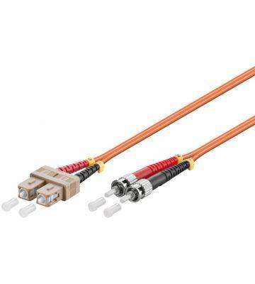 Glasvezel kabel SC-ST OM2 (laser optimized) 0.5 m