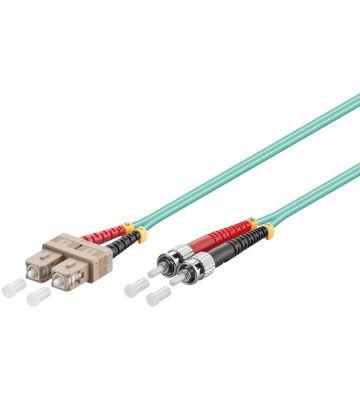 Glasvezel kabel SC-ST OM3 (laser optimized) 2 m