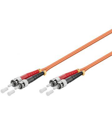 Glasvezel kabel ST-ST OM2 (laser optimized) 0.5 m