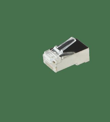 CAT5e Connector RJ45 - Shielded - voor stugge en soepele utp kabels