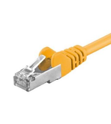 CAT5e FTP 0,5m geel