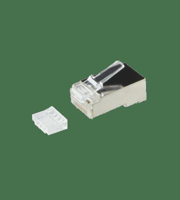 CAT6 Connector RJ45 met hulpstuk - Shielded - voor soepele kern