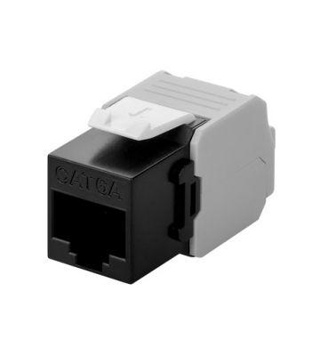 CAT6a UTP Keystone Connector - LSA - Zwart