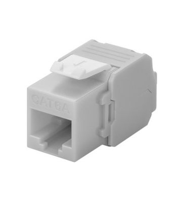 CAT6a UTP Keystone Connector - LSA - Grijs