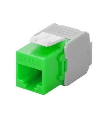 CAT6a UTP Keystone Connector - LSA - Groen